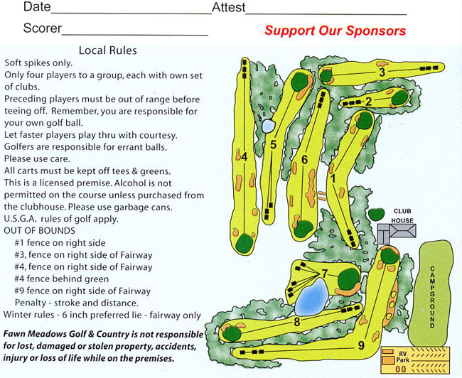Fawn Meadows Gold Course Map